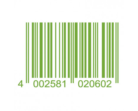 Autocollant Foliatec Cardesign - Code - vert néon - 37x24cm