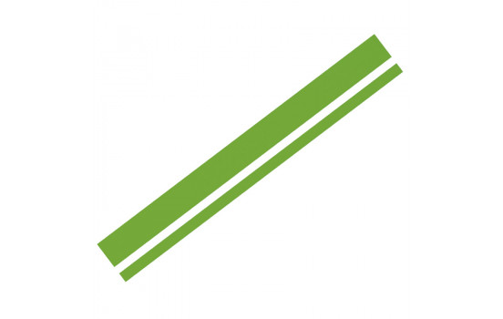 Autocollant Foliatec Cardesign - Lignes - vert néon - 150x5,8cm