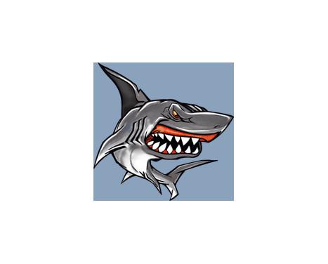 Autocollant Shark II - 11x10.5 cm, Image 2
