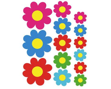 Feuille d'autocollant de fleurs colorées - 24.5x32x5cm