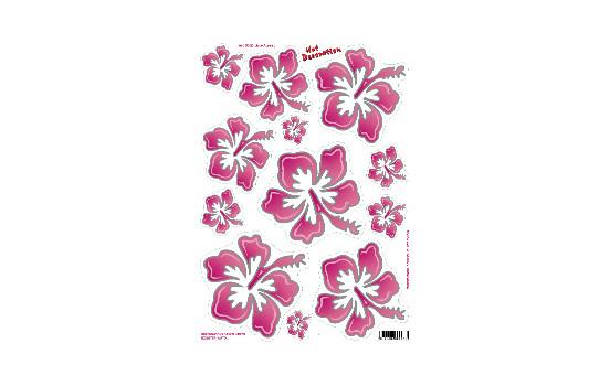 Feuille d'autocollants Fleurs rose (34x24cm)