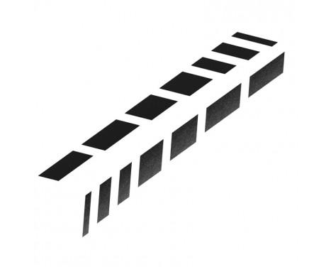 Foliatec Cardesign Sticker - Abat-jours - Noir mat - 77x9cm - 2 pièces