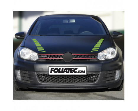 Foliatec Cardesign Sticker - Abat-jours - Vert fluo - 77x9cm - 2 pièces, Image 2