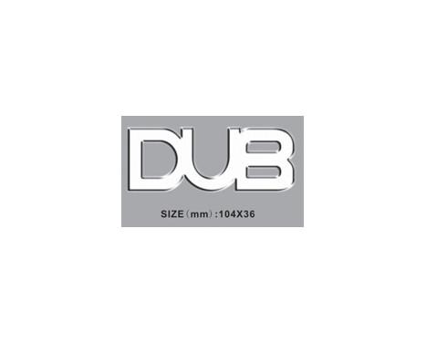 Logo DUB 104x36mm - auto-adhésif, Image 2
