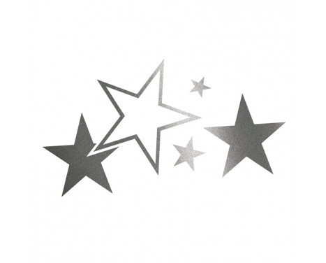 Sticker Foliatec Cardesign - Etoiles - Graphite - Largeur 63cm x Hauteur 39cm