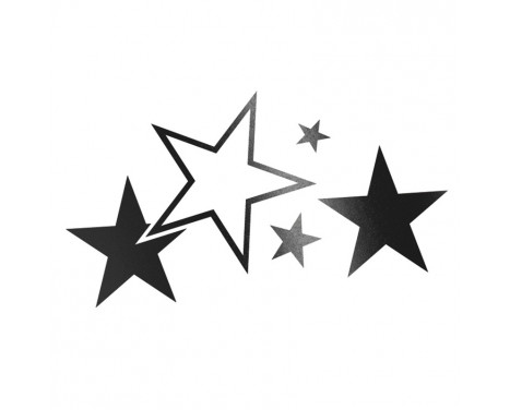 Sticker Foliatec Cardesign - Etoiles - noir mat - 63x39cm