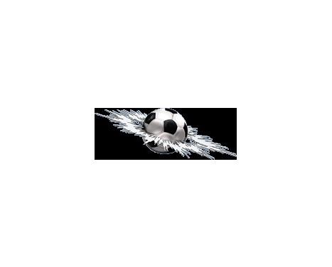 Sticker graphique Crashed Football - 24x7x5cm