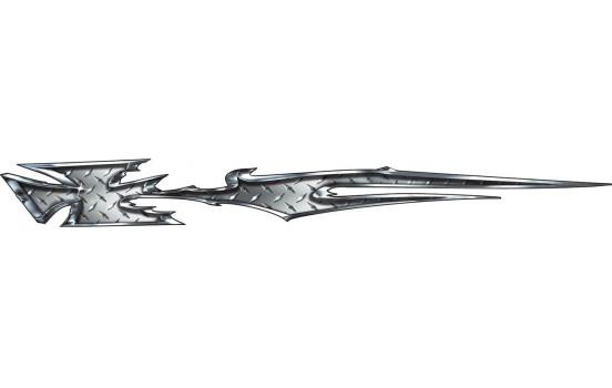 Stickerset Metal Iron Cross - 2x 195x23cm
