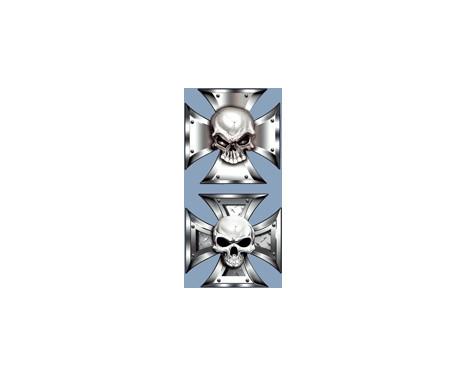 Stickerset Skull in IronCross - 2x 8x8cm, Image 3
