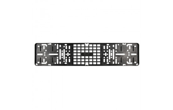 Porte plaque d'immatriculation noir modèle clic sans dessin plage