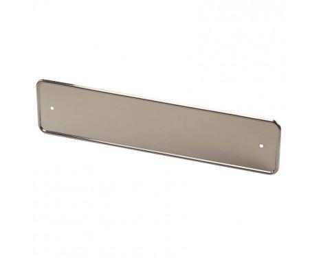 Support de plaque d'immatriculation en acier inoxydable chromé 52x11cm par pièce