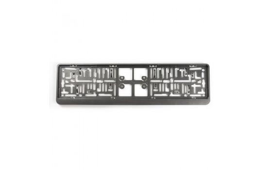 Support de plaque d'immatriculation en plastique 'Click' 52x11cm Gunmetal