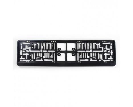Support de plaque d'immatriculation en plastique 'Click' 52x11cm Noir