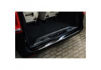 Pare-chocs arrière en acier inoxydable noir Mercedes Vito / Classe V 2014- 'Ribs'