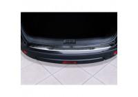 Protection de seuil arrière en acier inoxydable Nissan Qashqai 2007-2013 'Ribs'