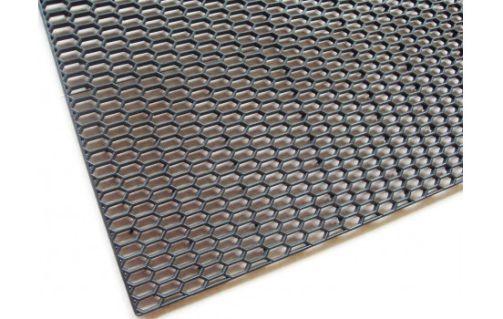 Maillage Racing ABS noir - HEX Fine 18x7mm - 120x30cm