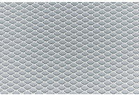 Maille de course Simoni Racing en aluminium - 125x20cm - diamant 5x9mm