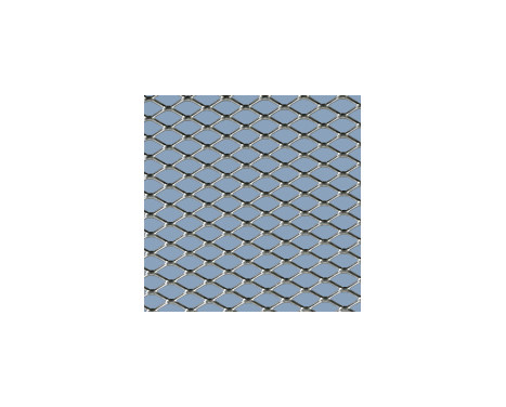 Racing mesh aluminium - Diamant 16x8mm - 125x25cm, Image 2