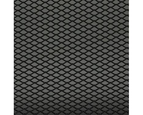 Racing mesh aluminium noir - Diamant 16x8mm - 125x25cm