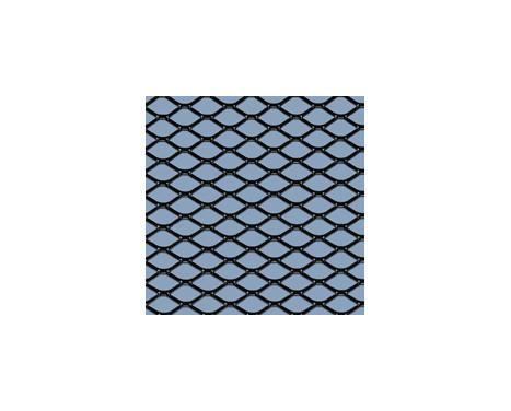 Racing mesh aluminium noir - Diamant 16x8mm - 125x25cm, Image 2
