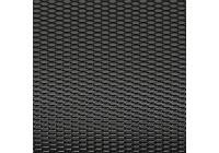 Racing mesh aluminium noir - nid d'abeille 12x6mm - 125x25cm