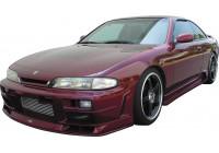 Jupes latérales Nissan 200 / 240SX / S14 1995-1999 'JP-Style' (PU)