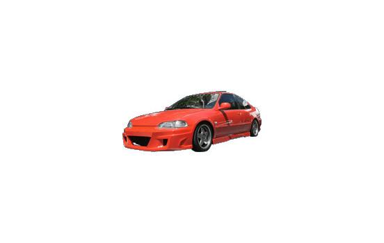 IBherdesign Pare-chocs avant Honda Civic 2/3-door 1992-1995 'Komodo'