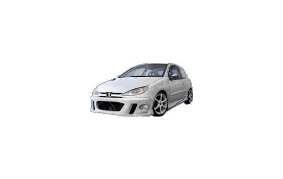 IBherdesign Pare-chocs avant Peugeot 206 'MaxStyle' avec lampes / filet