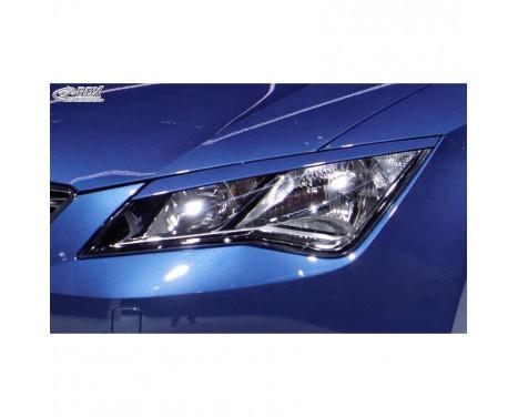 Protecteurs de phares Seat Leon 5F SC / 5 portes / ST 2013- (ABS)