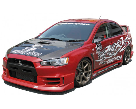Spoiler avant CharSpeed Mitsubishi Lancer Evo X CZ4A HalfType (FRP)