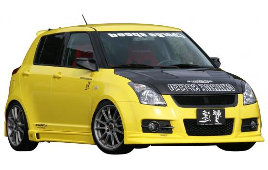 Spoiler avant CharSpeed Suzuki Swift II Sport 2005 - 'HalfType' (FRP)