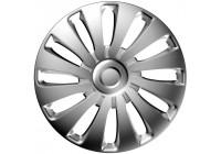 4-deligt J-Tec hjulhölje Set Sepang 17-tums silver