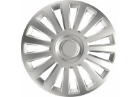 4-Navkapslardel Lyx Silver 15 Inch