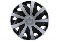 4 st. Hjulskydd Set Craft Silver / Black (Convex Fälgar) 16 tum