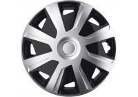4 st. J-Tec Hjul Mistral Mistral Set av 15-tums silver / svart (sfär)