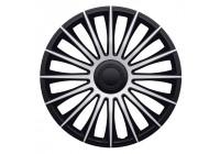 4 st. J-Tec Hjulskydd Set Austin 17-tums silver / svart