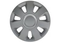4 st. navkapslar Ares Ring Silver 15 tums