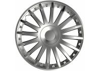 4 st. Navkapslar Crystal Silver 13 Inch