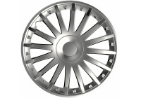 4 st. Navkapslar Crystal Silver 15 Inch