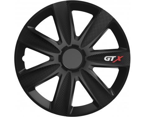 4 st. Navkapslar GTX Carbon Black 14 tum