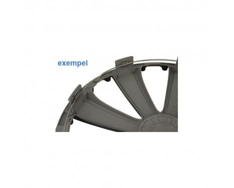 4 st. Navkapslar GTX Carbon Black 14 tum, bild 2