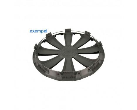 4 st. Navkapslar GTX Carbon Black 14 tum, bild 3