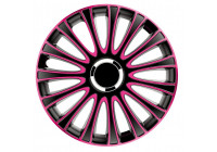 4 st. Navkapslar LeMans 15-tums svart / rosa
