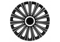 4 st. Navkapslar LeMans 15-tums svart / silver