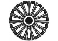 4 st. Navkapslar LeMans 17-tums svart / silver