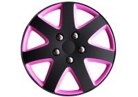 4 st. Navkapslar Michigan 13-tums matt svart / rosa