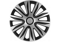 4 st. Navkapslar Nardo 15-tums silver / svart