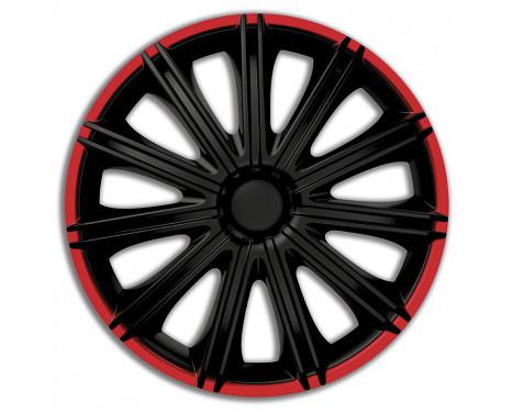 4 st. Navkapslar Nero R14-tums svart / röd