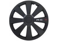 4 st. Navkapslar RS-T 15-tums svart