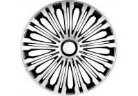 4 st. Navkapslar Volante 17-tums silver / svart